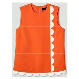 Victoria Beckham Target Orange Twill Tank Top NWT